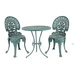 Cast Metal Coalbrookdale Style Outdoor Table Setting