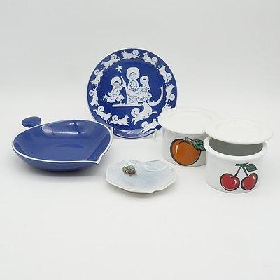 Group of Retro Arabia, Royal Copenhagen and GEFYR Sweden Porcelain