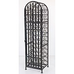 Black Painted Wine Rack