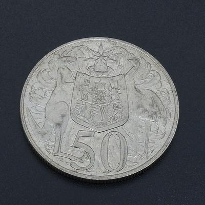 Australian Round 1966 Silver 50 Cent Coin