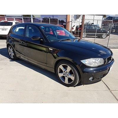 3/2007 BMW 118i E87 5d Hatchback Black 2.0L