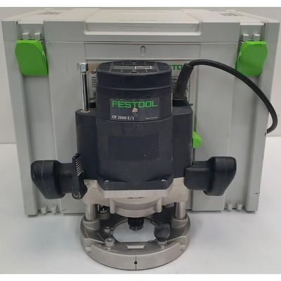 Festool OF 2200 E/1 Plus Electric Plunge Router