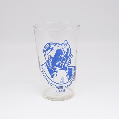1949 King George VI & Queen Elizabeth Cancelled Royal Visit to Australia Tumbler