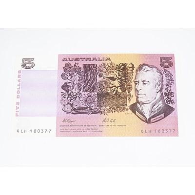 1991 Australia Five Dollar Banknote Fraser/Cole