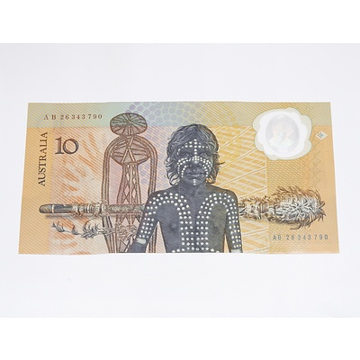 1988 Australia Polymer Ten Dollar Banknote