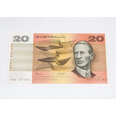 1991 Australia Twenty Dollar Banknote