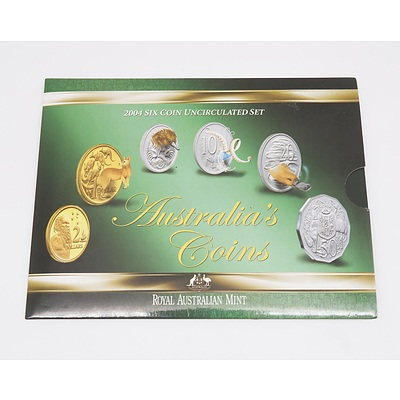 2004 Royal Australian Mint Six Coin Uncirculated Set