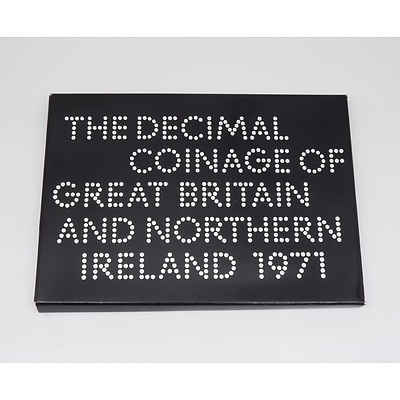 The Decimal Coinage of Great Britain and Northern Ireland 1971 Proof Coin Set
