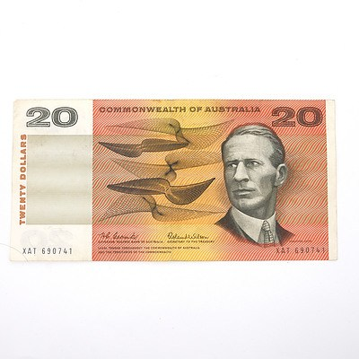 Commonwealth of Australia Coombs/ Wilson $20 Paper Note