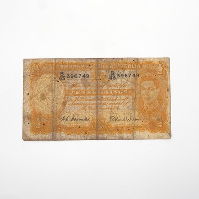 Commonwealth of Australia Coombs/ Wilson Ten Shillings Paper Note