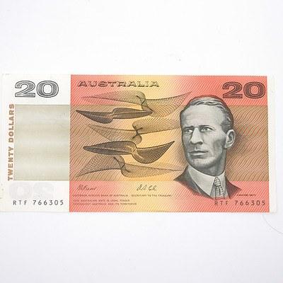 Australian Fraser/ Cole $20 Paper Note, RTF766305