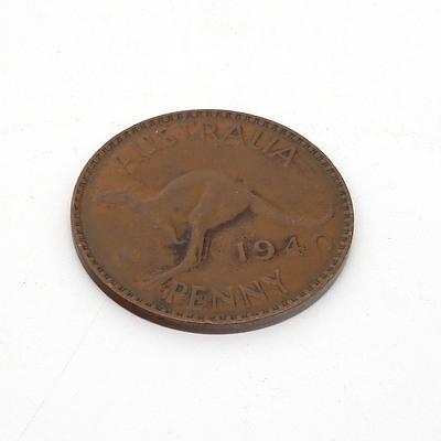 Australian 1940 P KG Penny