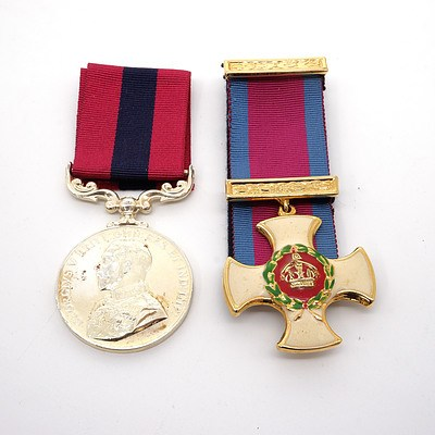 Two Replica Military Medals, British Gallantry and Distinguished Conduct