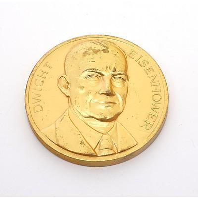High Relief Dwight Eisenhower Medallion