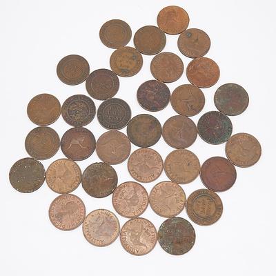 35x Australian Half Pennies
