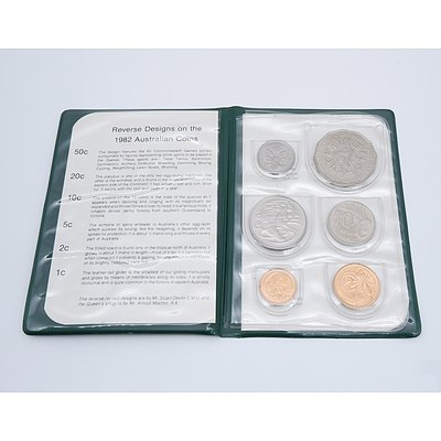 1982 XII Commonwealth Games Brisbane Six Coin Set