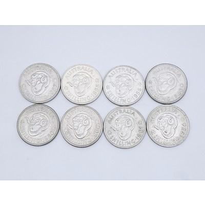 Eight Australian Shillings 1946 - 1961