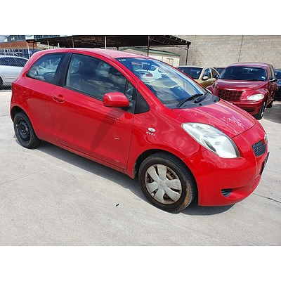 7/2006 Toyota Yaris YR NCP90R 3d Hatchback Red 1.3L