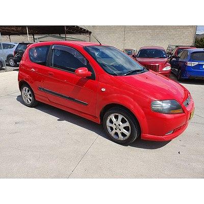 1/2008 Holden Barina  TK MY08 3d Hatchback Red 1.6L