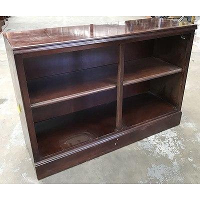 Two Drexel Heritage Lowline Bookshelves