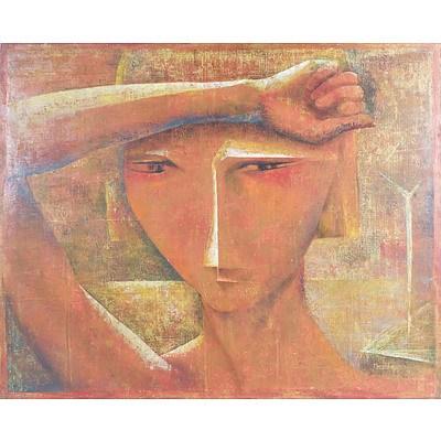 Mary Beeston (1917-) Woman in the Sun 1963, Oil on Board
