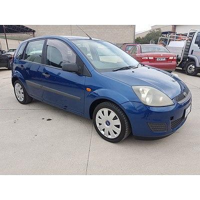 12/2006 Ford Fiesta LX WQ 5d Hatchback Blue 1.6L