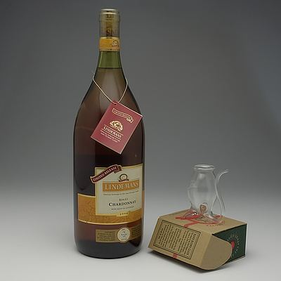 Bottle of Lindemans 2000 Olympic Games Limited Release Chardonnay and Port Sipper