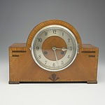 1920's English Marketry Mantle Clock