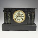 Antique Black Slate Mantle Clock with Anastasia Movement