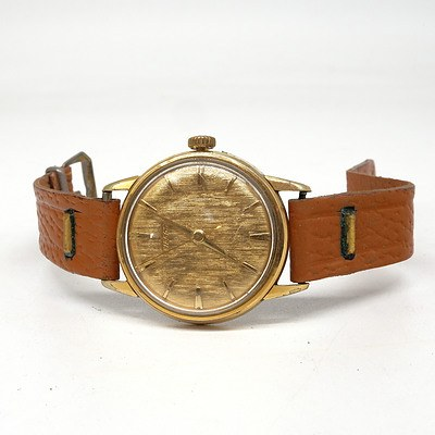 Gents Tissot Wrist Watch With Gold Plated Case