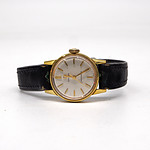 Ladies Omega Seamaster Wrist Watch with Gold Plated Case