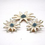 Vintage Italian Sunflower Brooch and Earrings Set