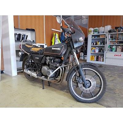08/1980 Kawasaki Z500 497cc Motor Bike