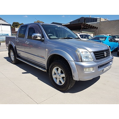 4/2004 Holden Rodeo LT (4x4) RA Crew Cab P/up Blue 3.5L