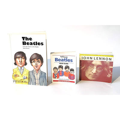 2 Beatles and a John Lennon Book Including; 'The Beatles From The Cavern To The Rooftop By Allan Kozinn', 'Warman's Beatles Field Guide Edited By Tim Neely', 'The Complete Guide to the Music of John Lennon By Johnny Rogan'