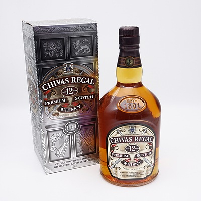 Chivas Regal 12 Year Premium Scotch Whiskey 1 Litre