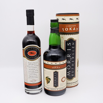 Two Bottles of Morris of Rutherglen Liqueur Tokay 500ml and 750ml