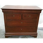 Duhram Furniture Chest of Drawers in Maple and Cherry Wood
