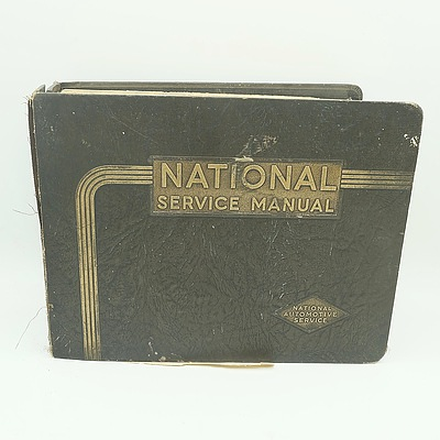 National Service Manual For American Cars, Compiled by the National Automotive Service, San Francisco, 1937