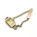 Antique Ladies Dress Watch with 9ct Gold Case and Gold Plated Band