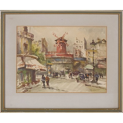 Offset Print of a French Street, Cobb and Co. Five in Hand Print on Cork, Chiyo-Yoko Photo Supplies Offset Print, Lithograph of the Champs Elysees