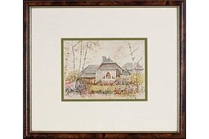 Diana Watson, Greystones Cottage, Watercolour