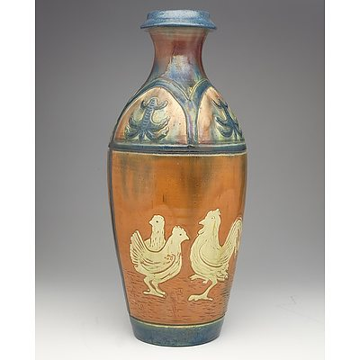 Belgian Arts and Crafts Belgian Ceramic Vase