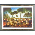 Pro Hart (1928-2006) Country Races Offset Print