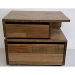 Wooden Bedside Drawers