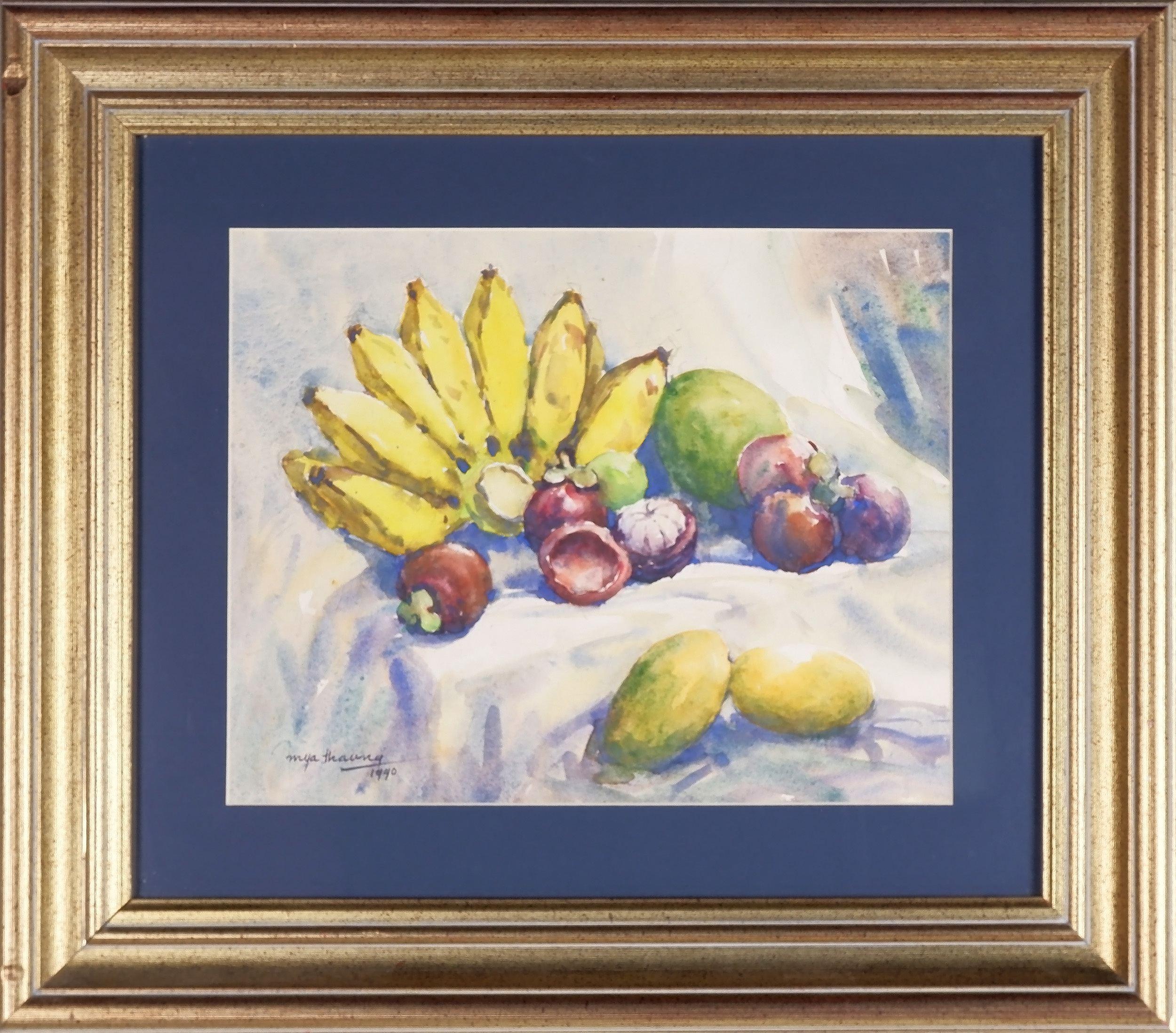 'Mya Thaung (Burmese 1943-) Fruits 1990, Watercolour'