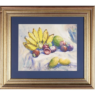 Mya Thaung (Burmese 1943-) Fruits 1990, Watercolour
