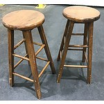 2 Pine Kitchen Stools