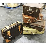 5 Vintage Leather Suitcases