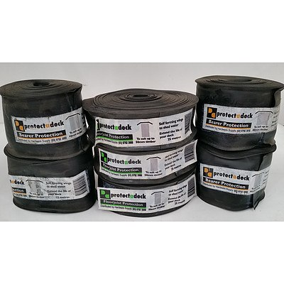 50mm and 90mm Protectadeck Bearer Protection - Lot of Eight Rolls - New - RRP $230.00